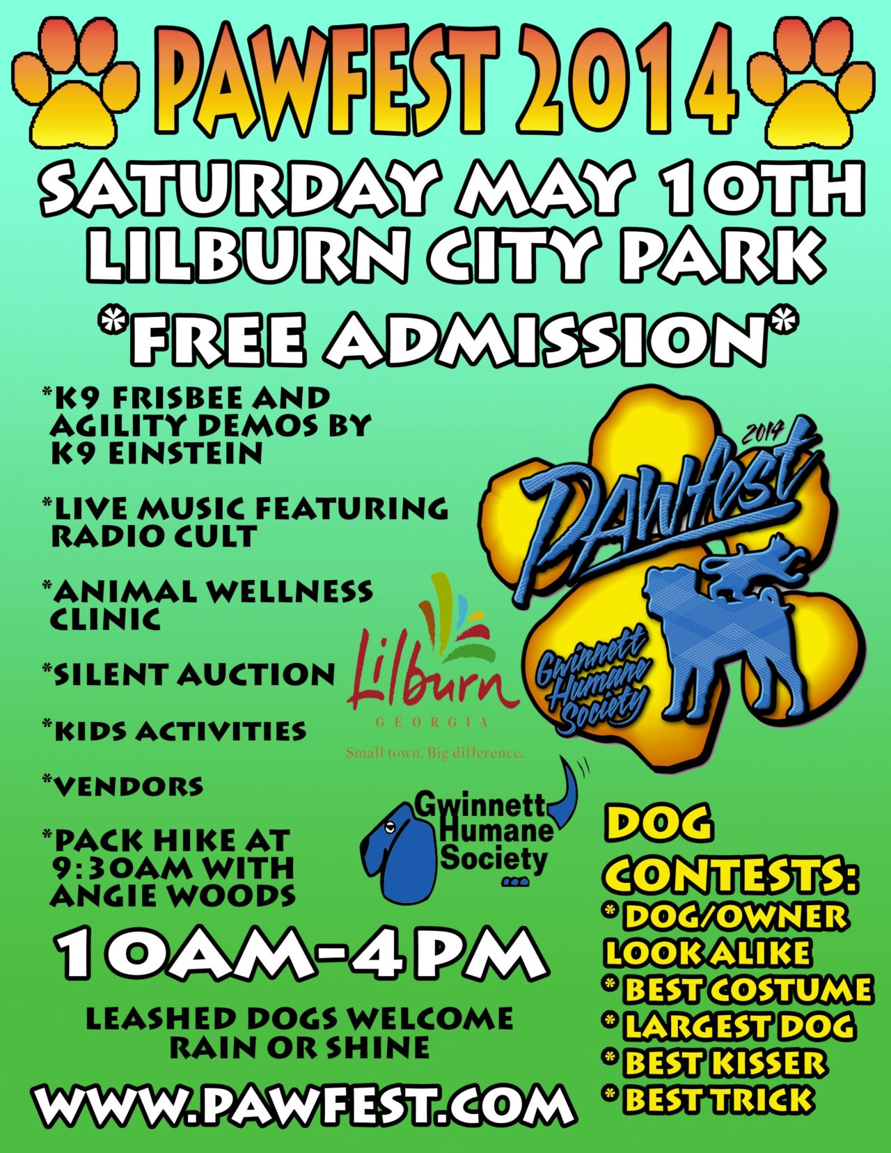 Jon us at Pawfest 2014 at lilburn park MAy 10 10-4 and help support the Humane Society