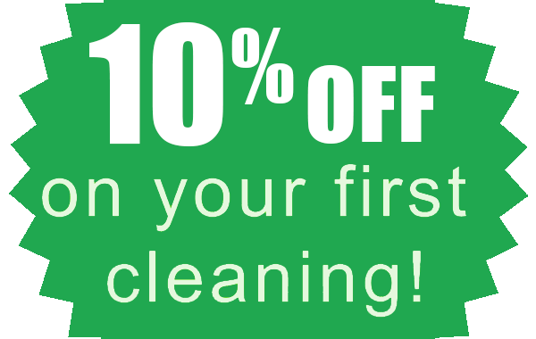 10% off 1st time cleaning